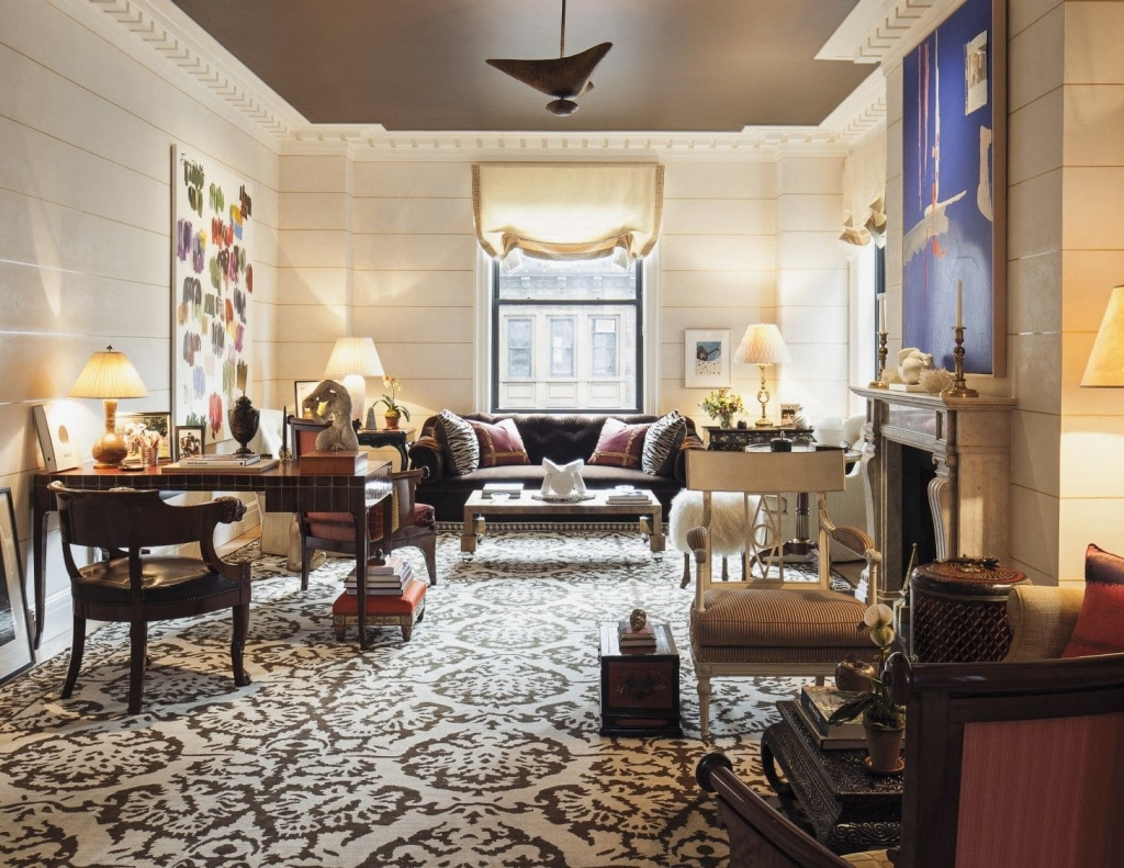The living room of a Manhattan apartment designed by Brian J. McCarthy as seen on Wescover