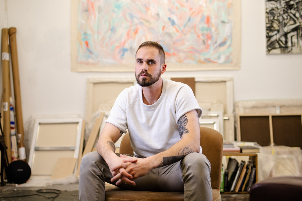 Grant McGrath in his studio. Image by Bryan Cerda
