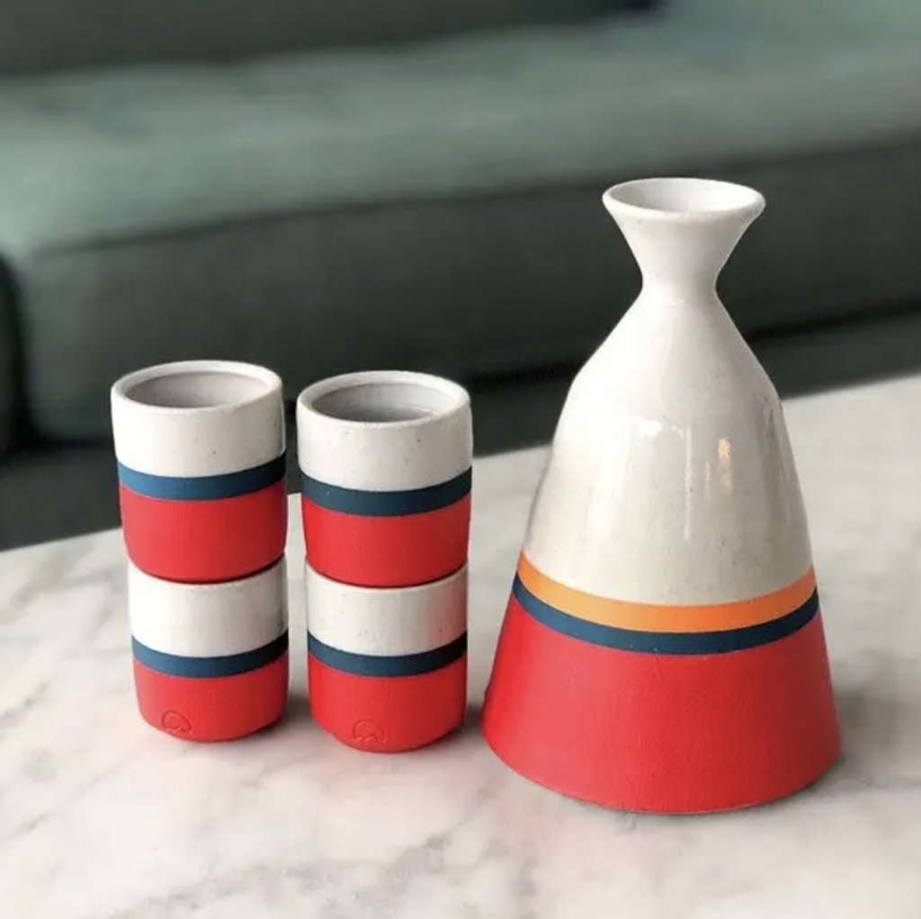 pink & red ceramics