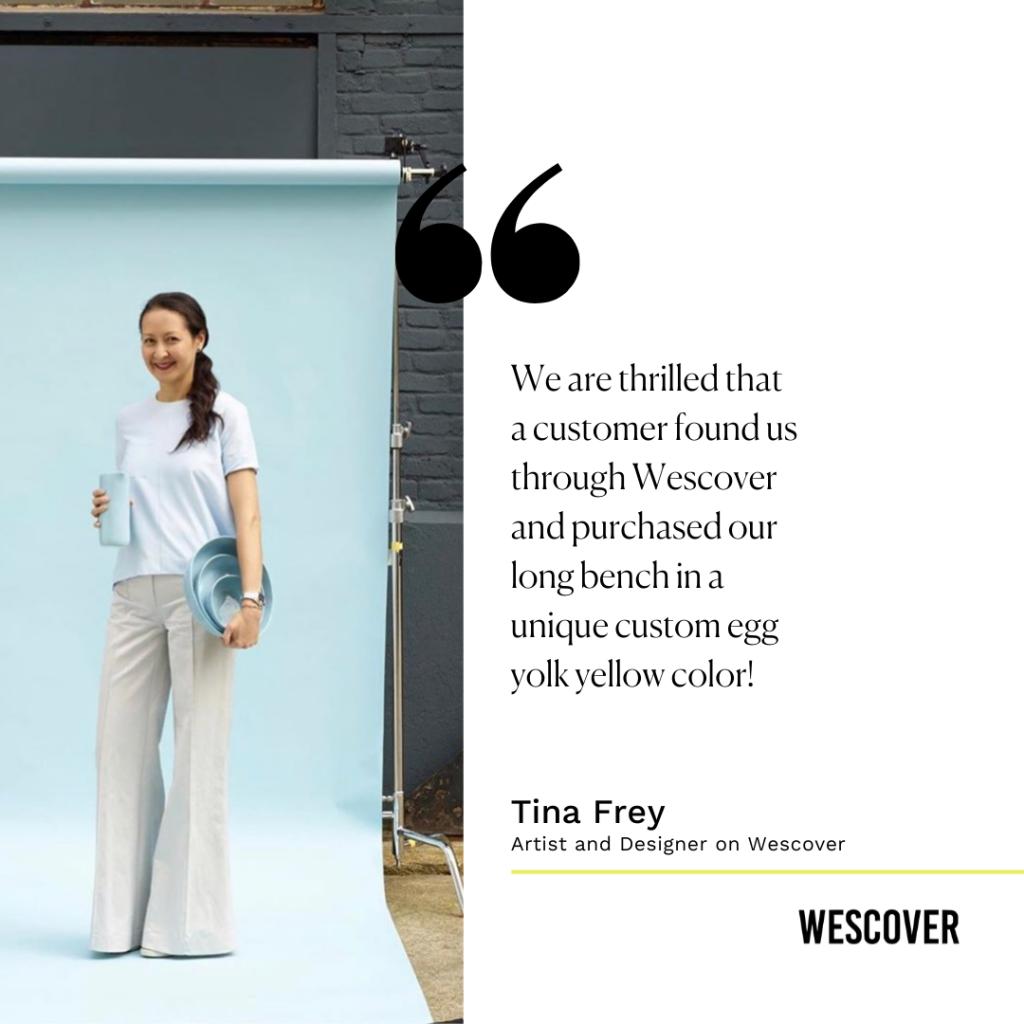 tina frey deaigns success story