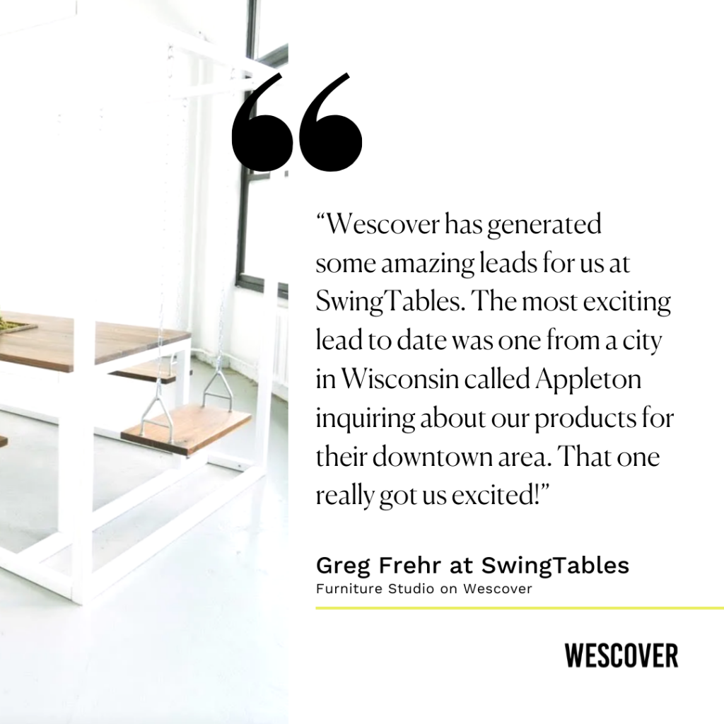 greg frehr of swing tables success story