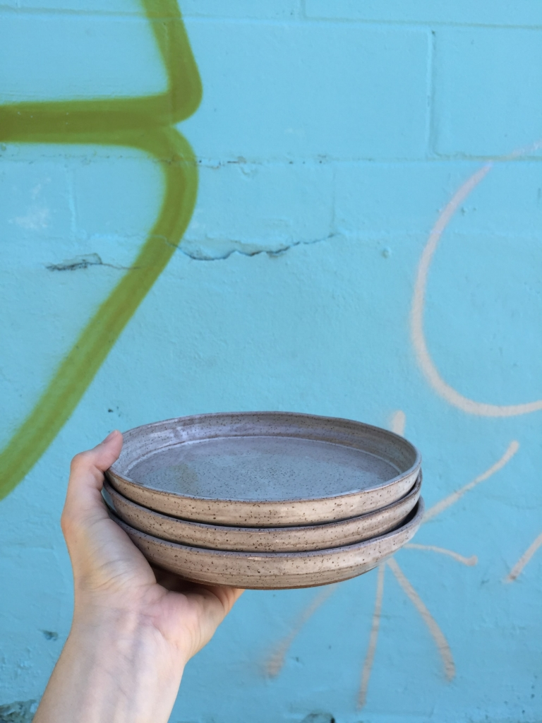 Speckled gray ceramic Plates Ceramic plates by Amanda Cimino