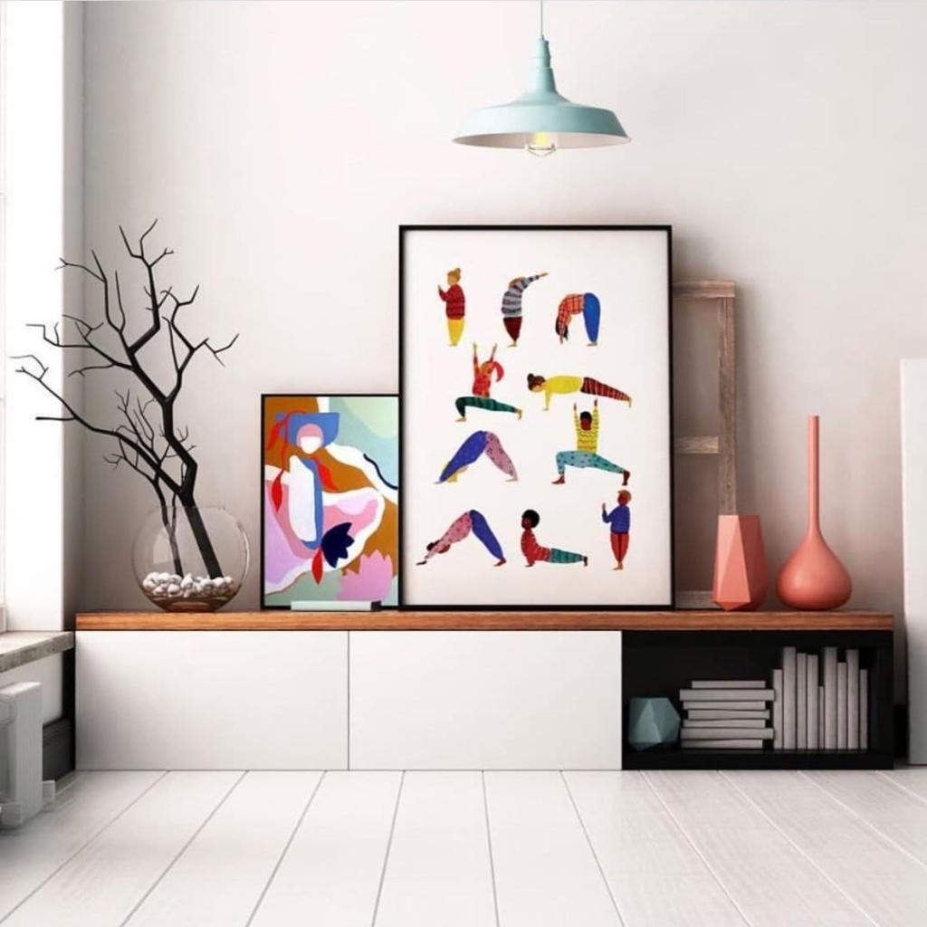 Playful Yoga Print