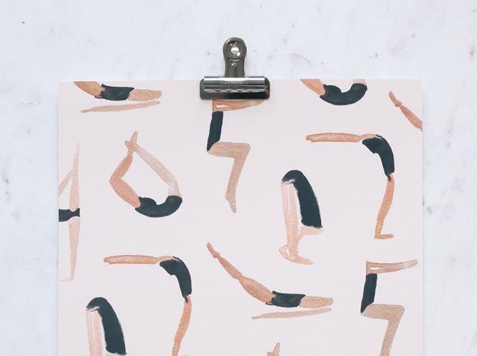 Abstract Yoga Pose Print