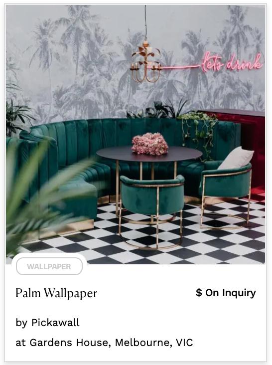 Grey monochromatic palm tree pastel wallpaper neon light decor