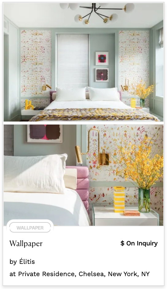 feature white wallpaper yellow and pink splatter