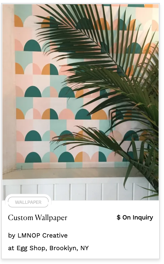 pastel wallpaper semi circles rectangles in pink, mint, green and yellow