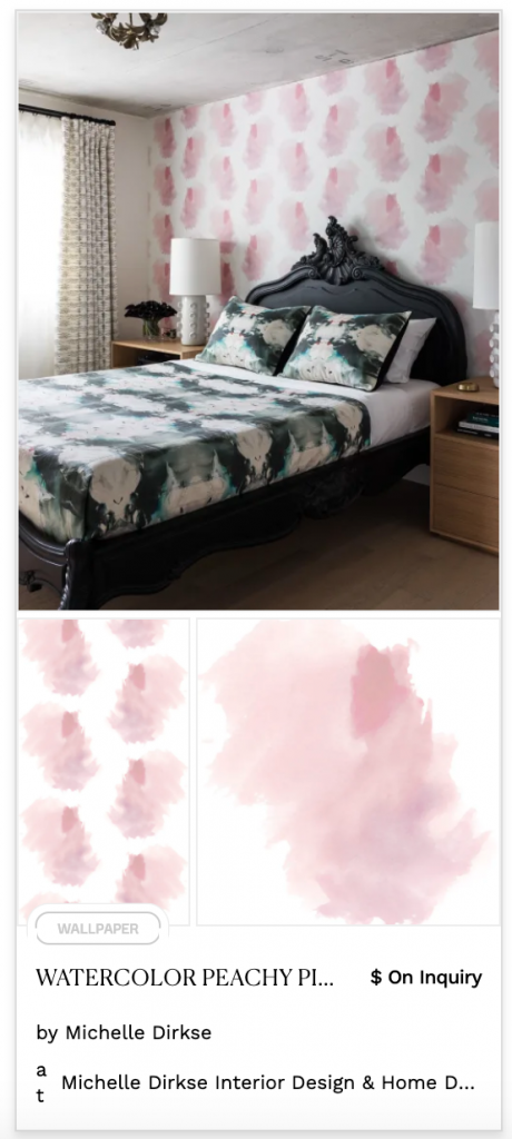 pink peachy watercolor splotches pastel wallpaper