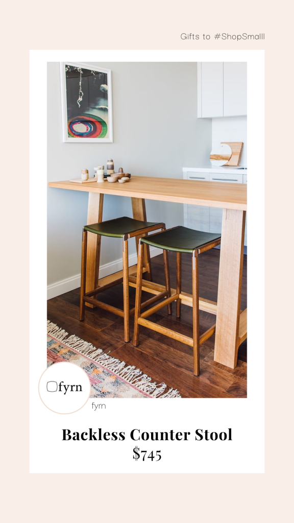 Green backless counter stool