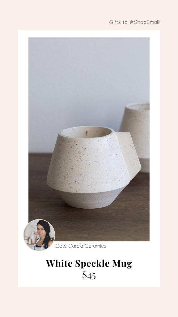 White speckled mugs