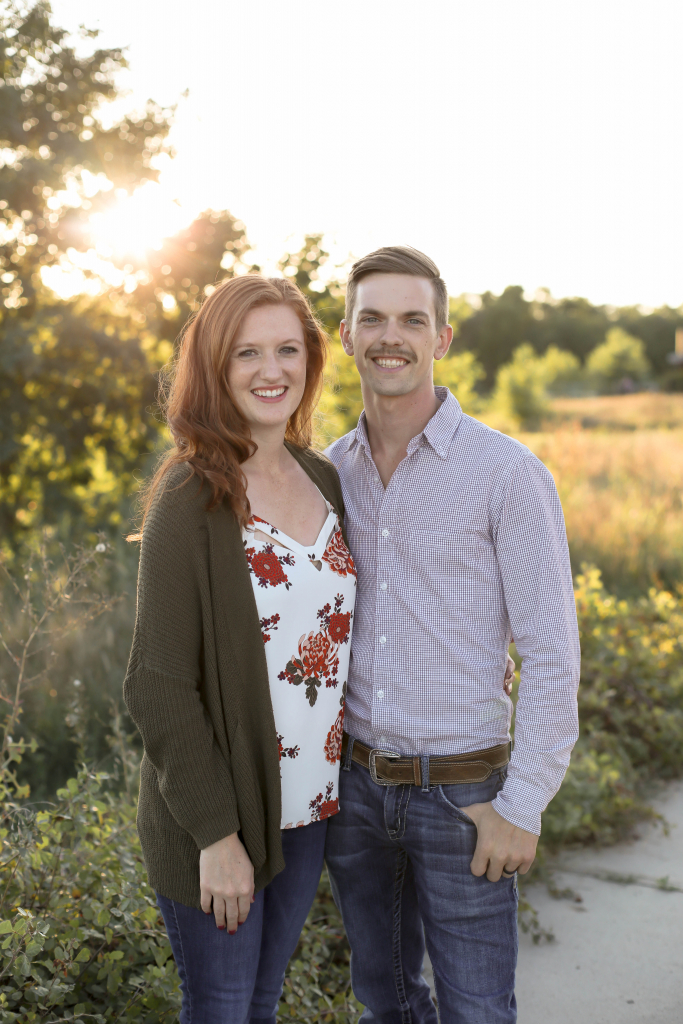 The primary members of Hazel Oak Farms: husband and wife Ethan and Melissa.