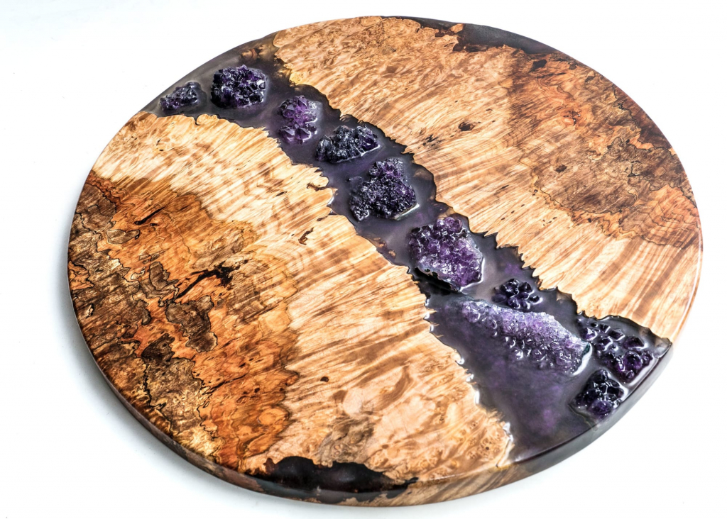 An enchanted river tabletop by Lumberlust Designs.