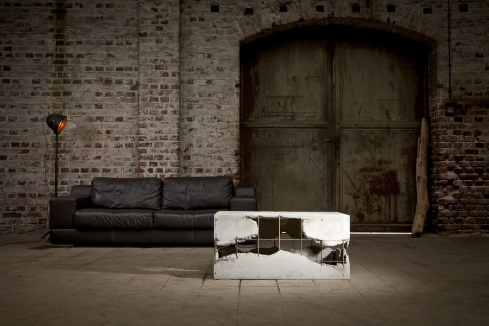 The Hotlana Table, a concrete coffee table by Stephan Schmitz as shown on Wescover.
